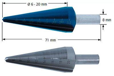 Сверло коническое, Ø=6-20 мм