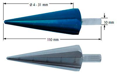 Сверло коническое, Ø=4-31 мм